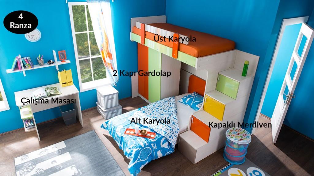 Dublex Yaprak Genç Odası